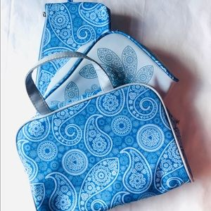 Handbags - Set of 3 blue makeup bag.